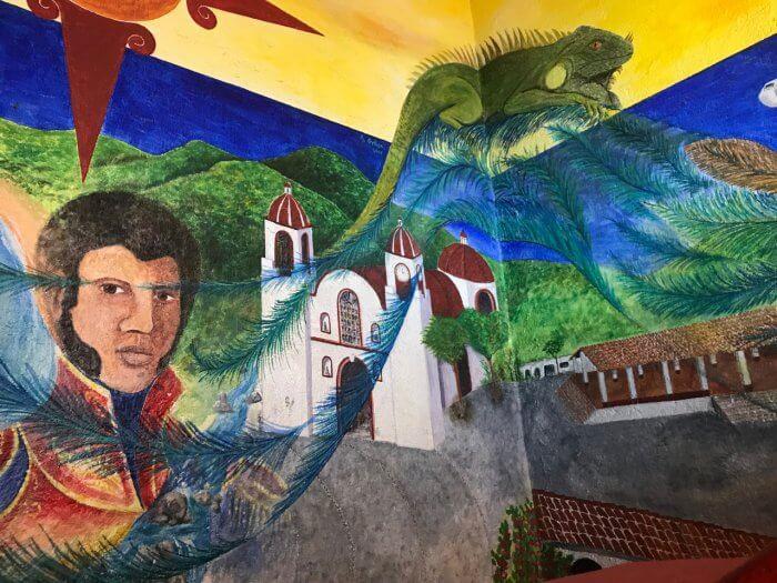 Mural depicting the history of Santa Maria Oaxaca Huatulco