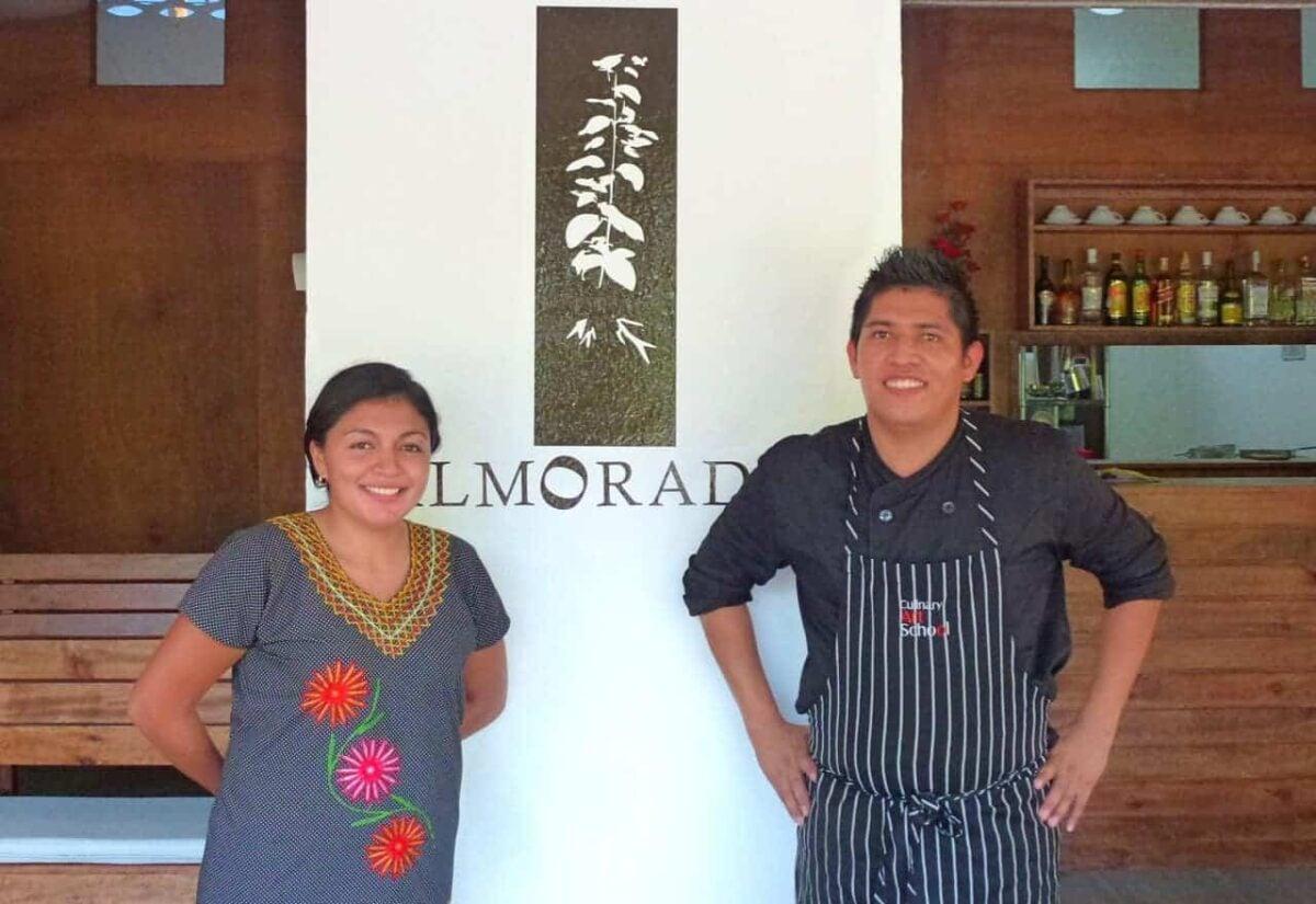 Shalxali and Quetzalcoatl Zurita of Almoraduz Restaurant in Puerto Escondido