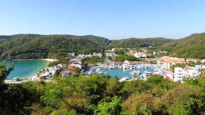 View of Santa Cruz Huatulco on Three Levels Tour