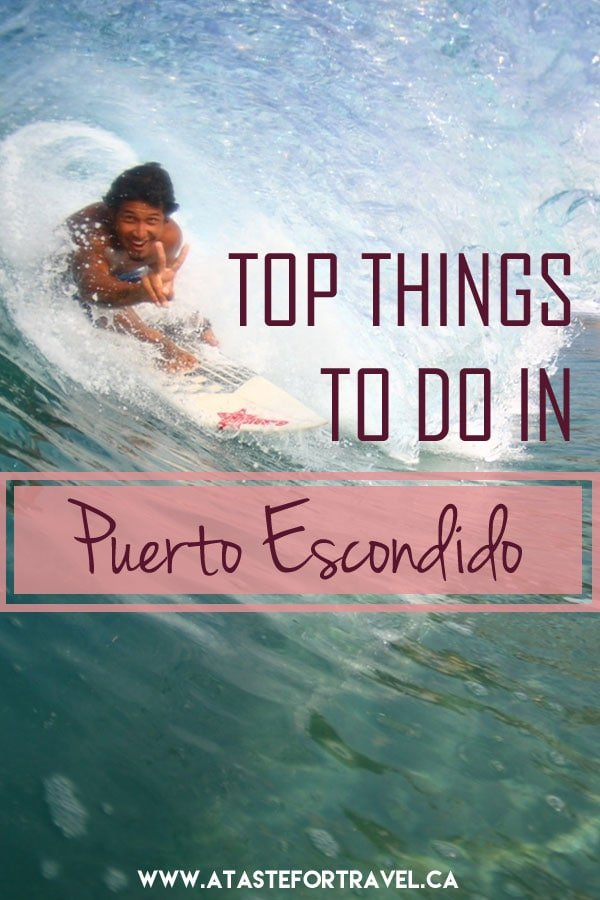 Insider's guide to the top things to do in Puerto Escondido Oaxaca Mexico! Enjoy surfing, horseback riding, sea turtle releases, floating in bioluminescent lagoons and more. #Mexico #adventure #travel Photo Credit Zicazteca Surfing