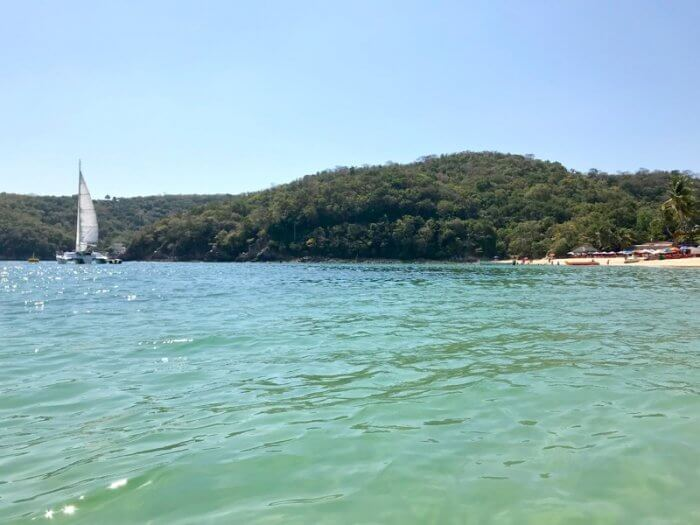 Water view at Playa Santa Cruz Huatulco Beaches Mexico