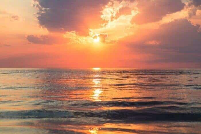 Cancun sunset on the lagoon