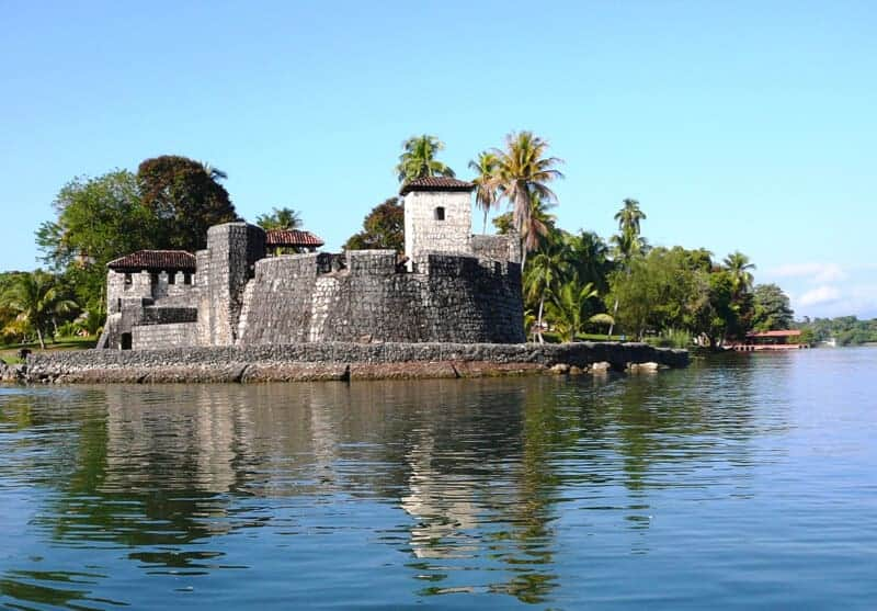 The fortress of Castillo de San Felipe in Guatemala.