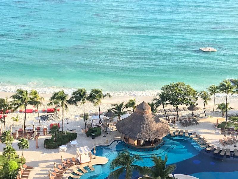 View of the beach at Fiesta Americana Coral Beach Cancun.
