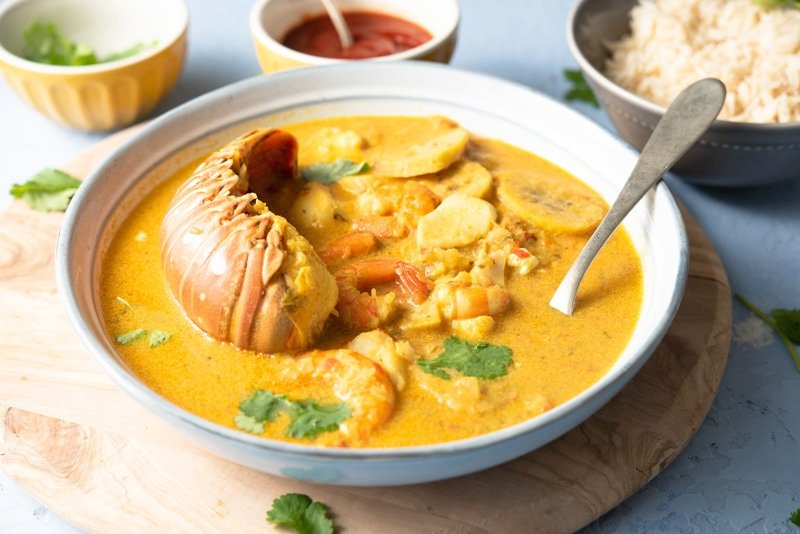 Tapado Gautemala - Caribbean seafood soup with coconut milk, yucca and plantain