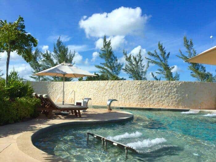 Hydrotherapy water circuit at Pevonia Spa at Secrets Playa Mujeres Cancun