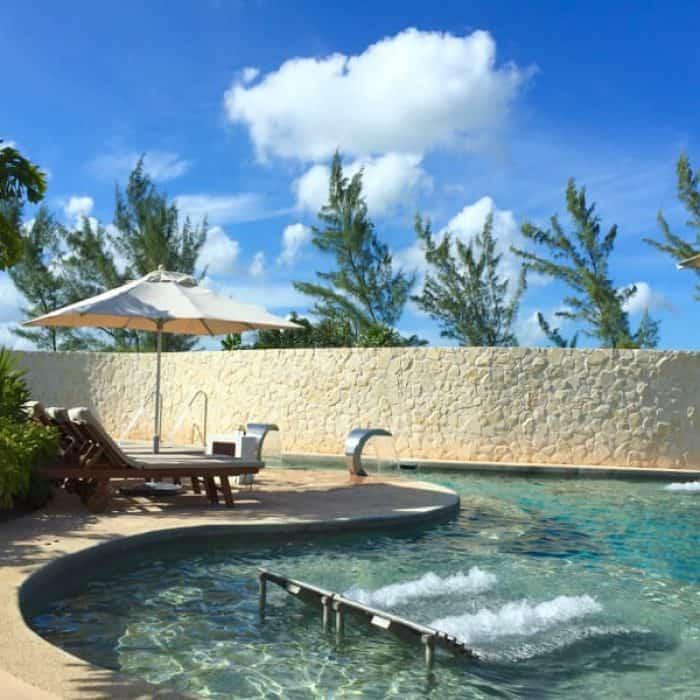 Hydrotherapy water circuit at Pevonia Spa at Secrets Playa Mujeres Cancun