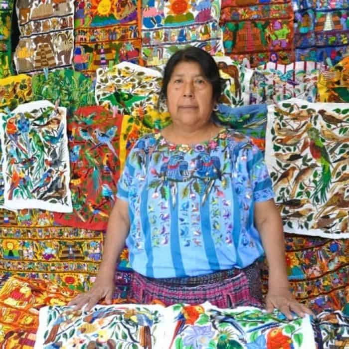 Embroidery in Chichicastenango Guatemala