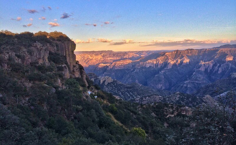 Stunning view of the Copper Canyon from a hotel balcony. Credit Alejandro Nunez