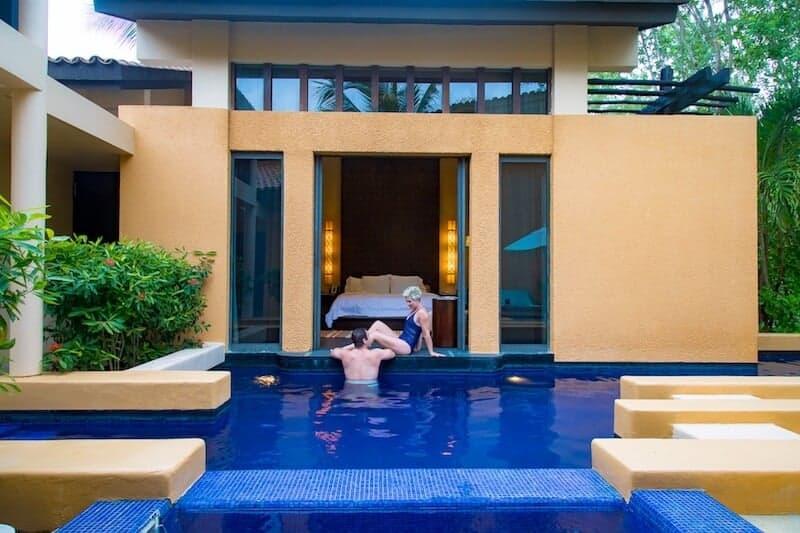 Private swimming pool at Banyan Tree Mayakoba.