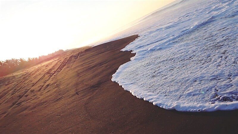 The black sand beaches of Monterrico in Guatemala. Photo by Paola Sanchez