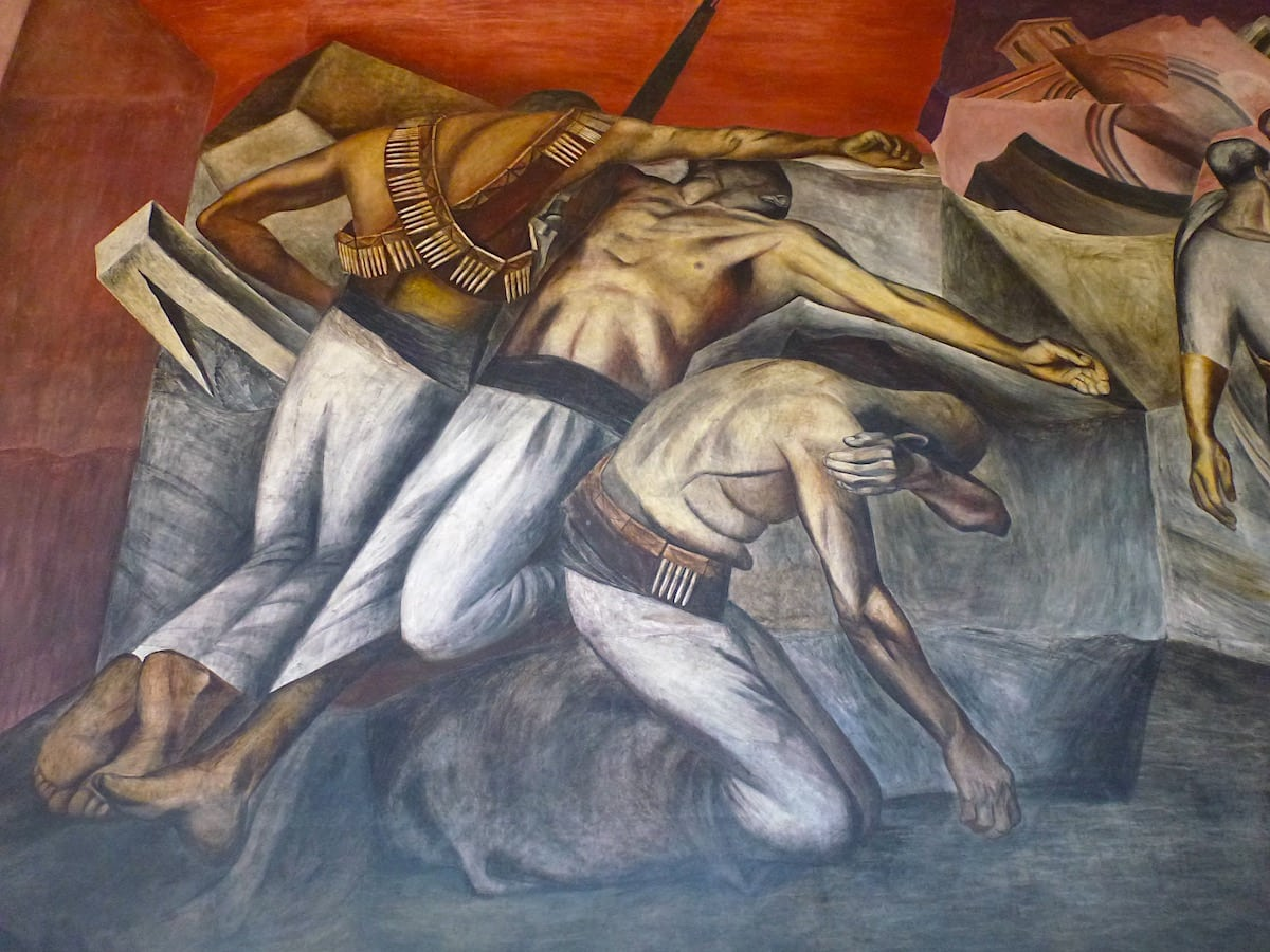 One of the powerful murals by José Clemente Orozco in Mexico City.