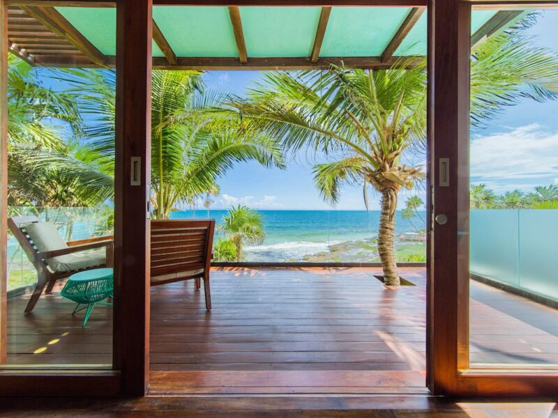 Beautiful view from oceanfront room in Mi Amor Tulum. (Credit: Colibri Hotels)