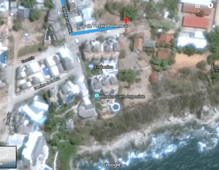 Location of La Escondida in Puerto Escondido