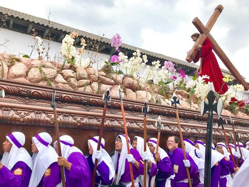 Semana Santa procession in Antigua Guatemala