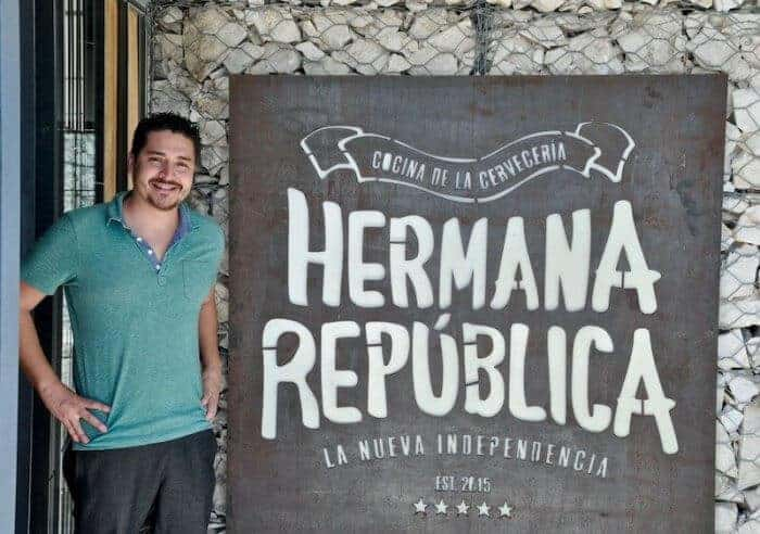 Chef Alex Mendez heads up the cuisine at Hermana Republica