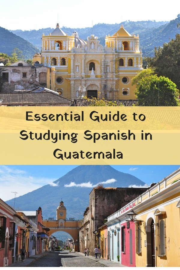 Planning to study Spanish in Guatemala? There's no better place to learn Spanish than at a language school in the former colonial capital of Antigua. This atmospheric city in the central highlands is filled with Spanish schools and also happens to be a convenient hub for taking day trips, tours and excursions to other regions of #Guatemala #Spanish #Travel