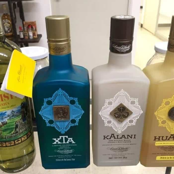 Bottles of D'Aristi Xtabentun brands