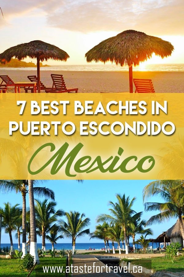 The complete guide to the seven best Puerto Escondido beaches. Here's where to snorkel, surf, swim or chill out at a beach restaurant. #Mexico #PuertoEscondido #Beach