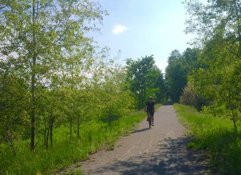 Cycling the Trans Canada Trail in Lindsay Ontario