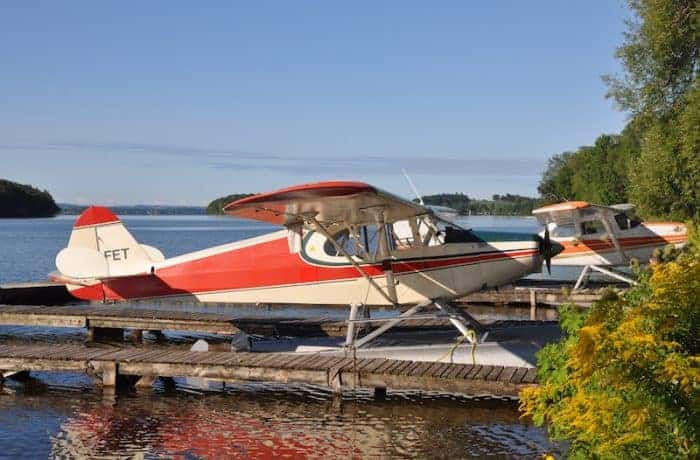 Explore Rice Lake by float plane at Elmhirst Resort in the Kawarthas