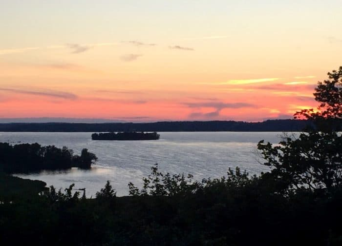 Golden Beach Resort is a prime spot for viewing a spectacular Kawartha Lakes sunset
