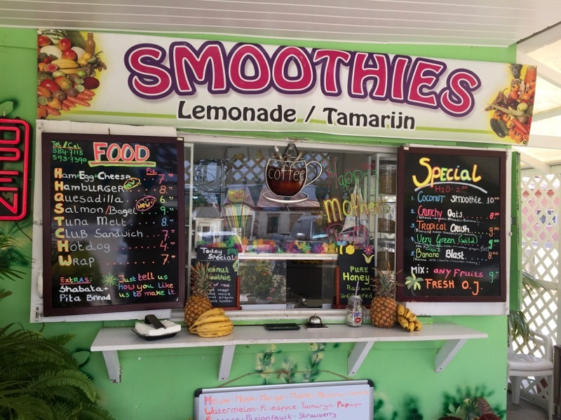 Mauchies Smoothies Savaneta Aruba