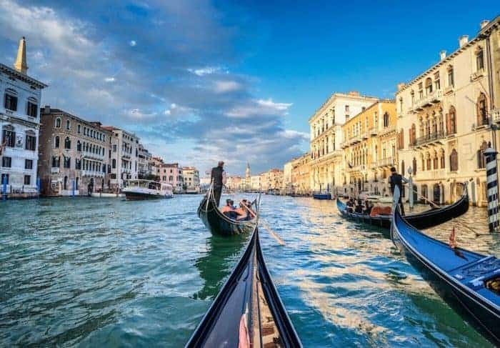 Gondola ride in Venice Credit Insight Vacations