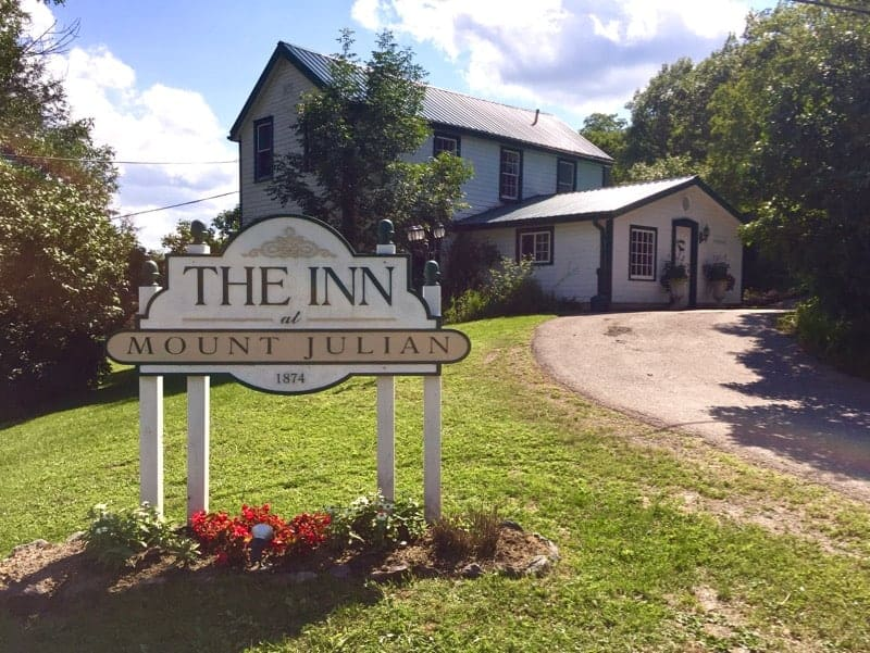 Dine on forest to table fare at Mount Julian in the Kawartha Lakes Resort