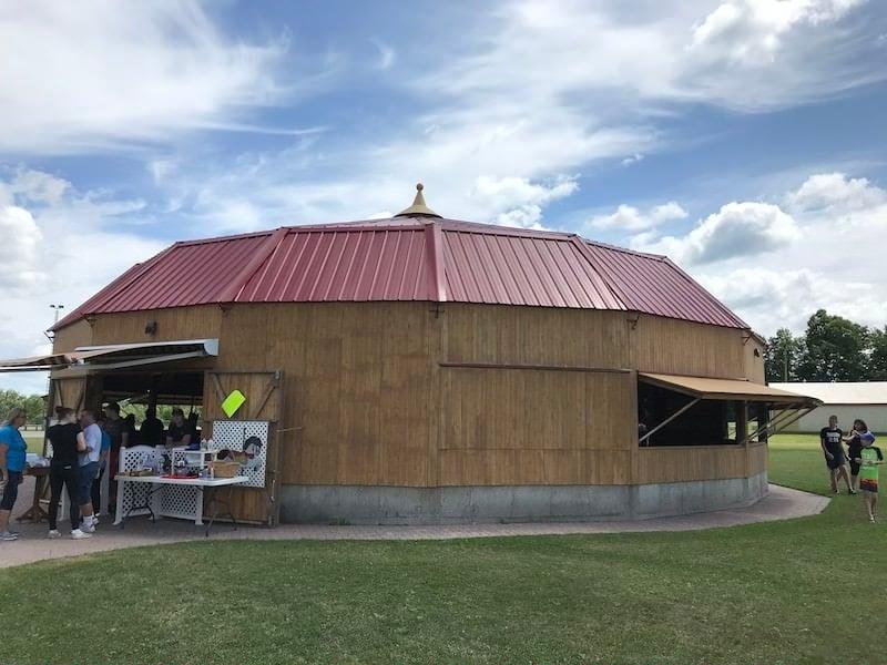 Roseneath carousel protective building
