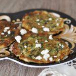 Tortitas de berro con huevo - watercress pancakes from Guatemala and El Salvador
