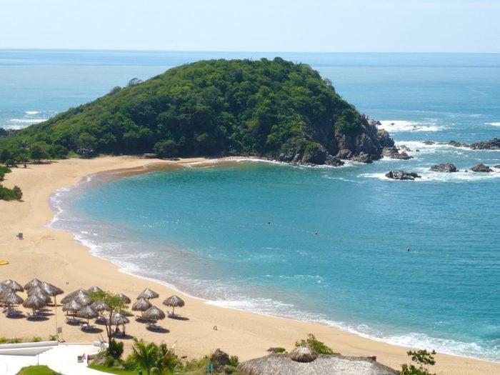 Secrets Huatulco beach on Conejos Bay