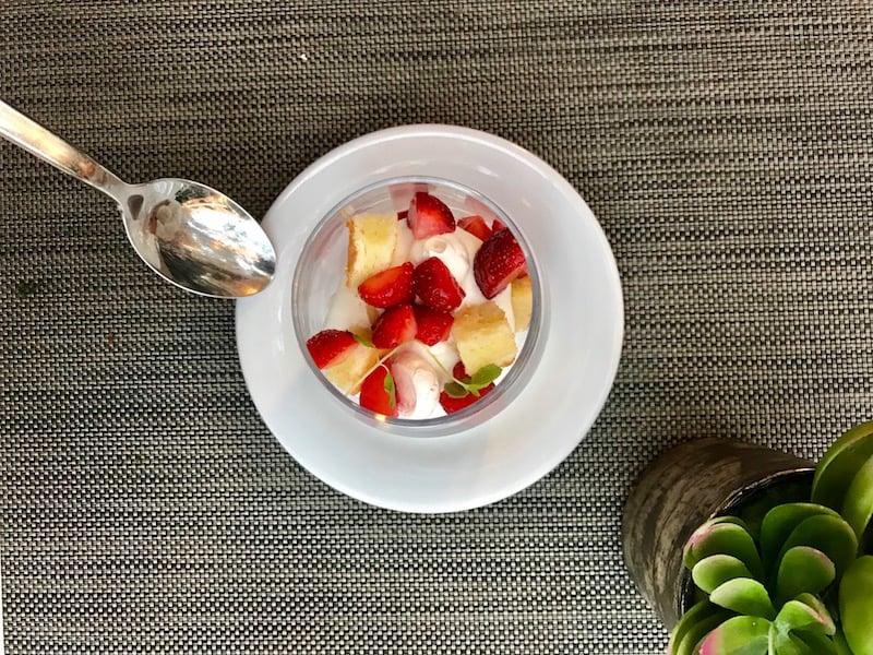 Dessert Trifle ONE Restaurant at Summerlicious 2018