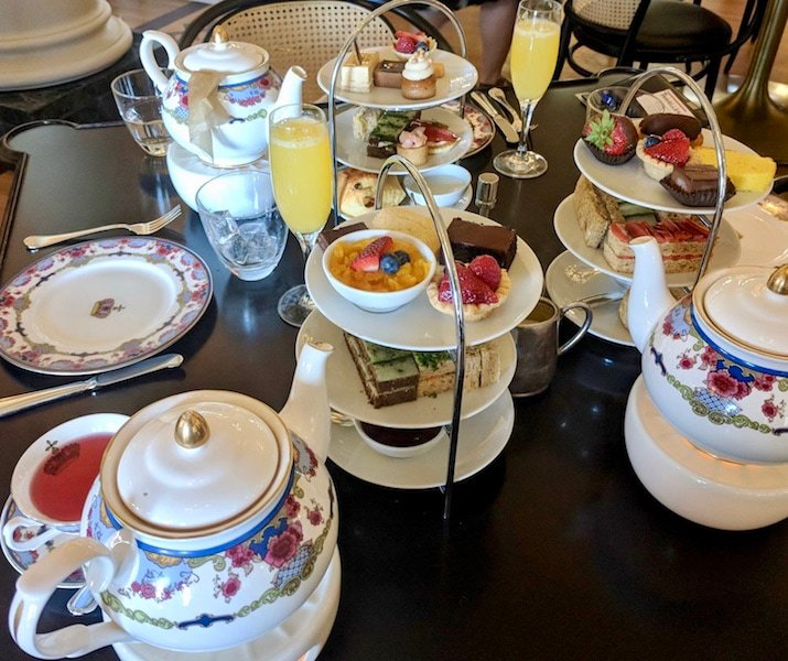afternoon tea in Victoria at Fairmont Empress Hotel