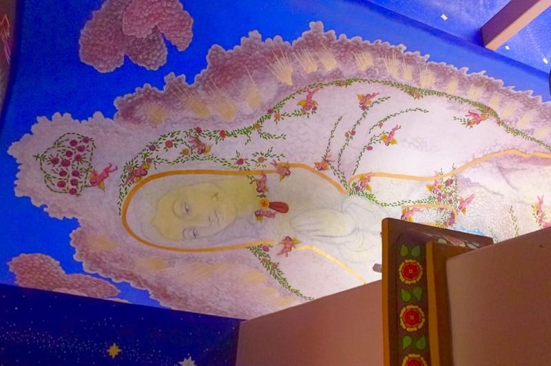 Mural of the Virgin of Guadalupe in La Crucecita Huatulco