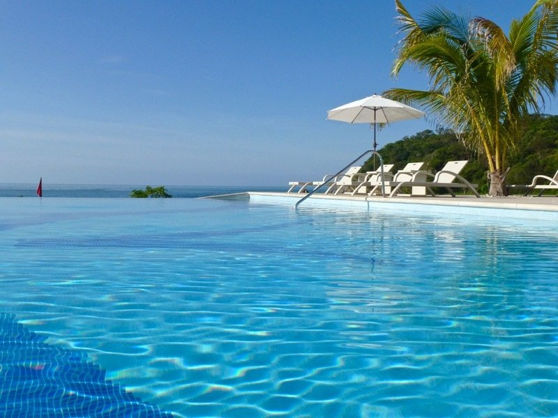 Infinity swimming pool at this adults-only resort in Huatulco, Mexico.