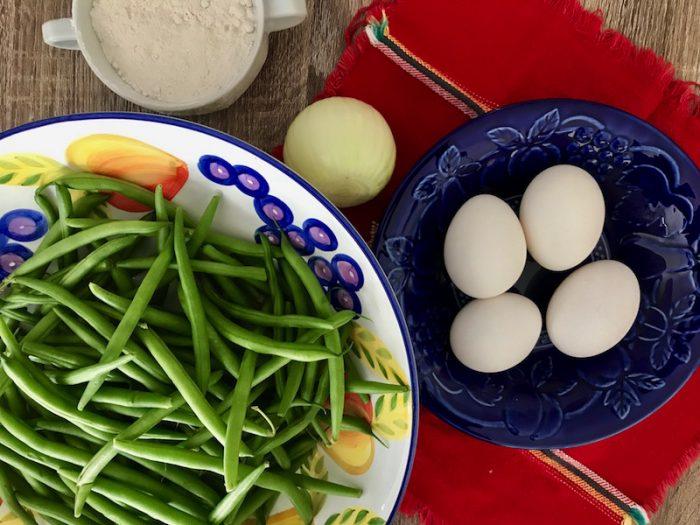 Ingredients for tortitas de ejote