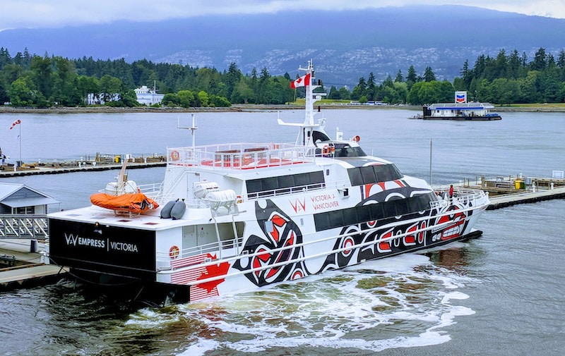 V2V Ferry is a luxurious way to travel between Vancouver and Victoria