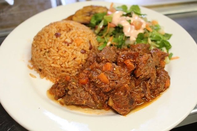goat stew or stoba is a local food at Coco Plum in Aruba