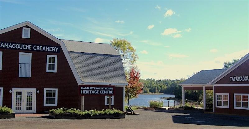 View of the Heritage Centre at Tatamagouche Creamery Square in Nova Scotia.