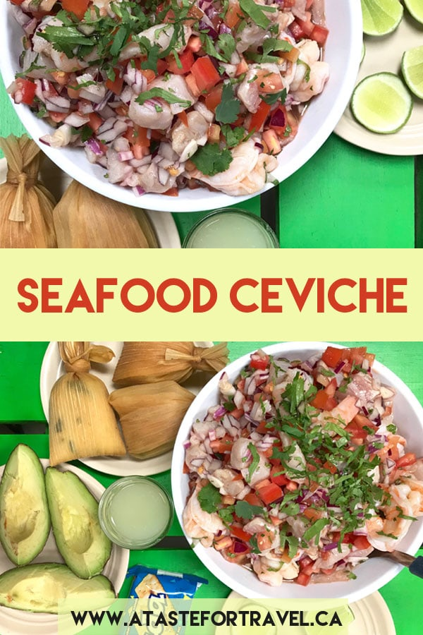 An easy recipe for authentic Guatemalan mixed seafood ceviche or ceviche mixto #recipe #Guatemala