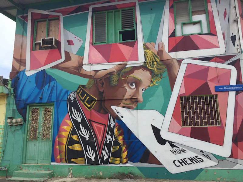 Exploring Aruba's street art is one of the best free things to do in Aruba