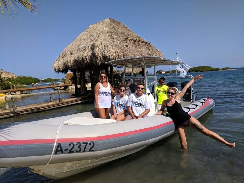 Full throttle at Aruba Ocean Villas Credit JPC