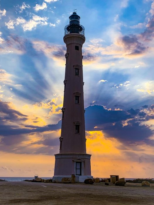 Sunrise at California Lighthouse in Aruba