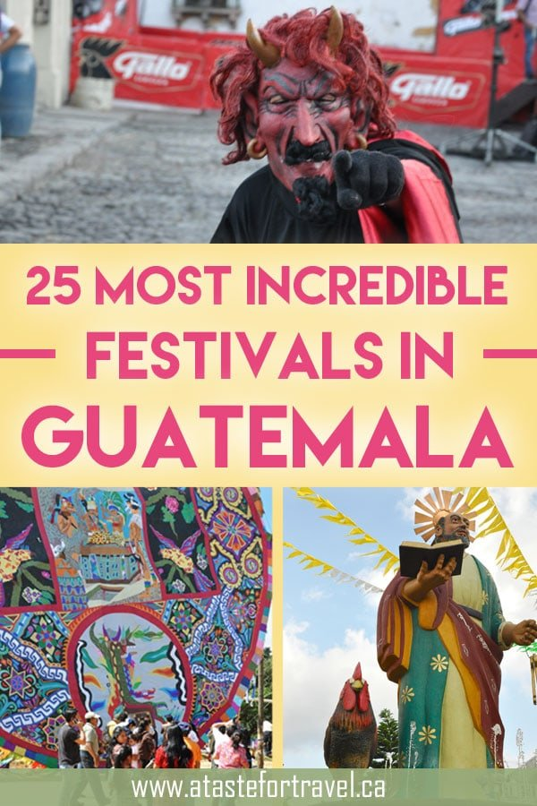 Don't miss these top Guatemala festivals and celebrations! They offer an immersion into the most unique, authentic and exciting traditions in #Guatemala