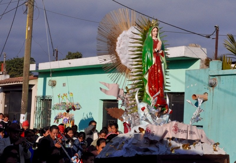 Virgin of Guadalupe Procession in Villa Nueva a major festival in Guatemala
