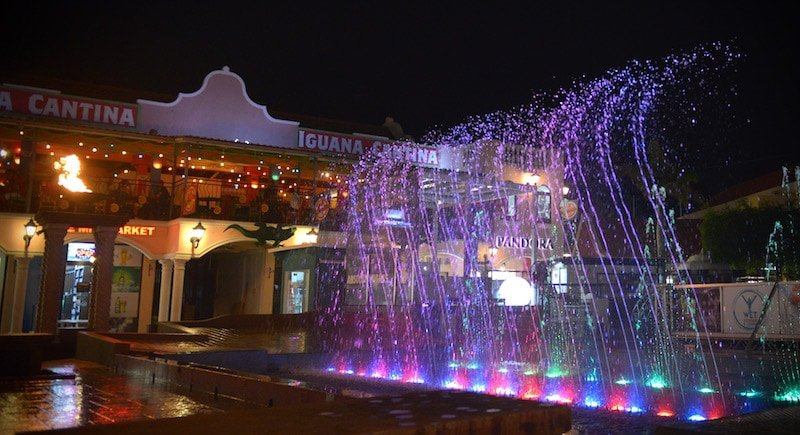 Free things to do in Aruba is Water Fountain Light Show at Paseo Herencia Credit Paseo Herencia