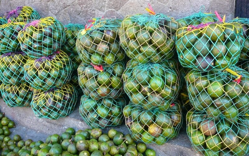Fresh avocados in the market in Guatemala.
