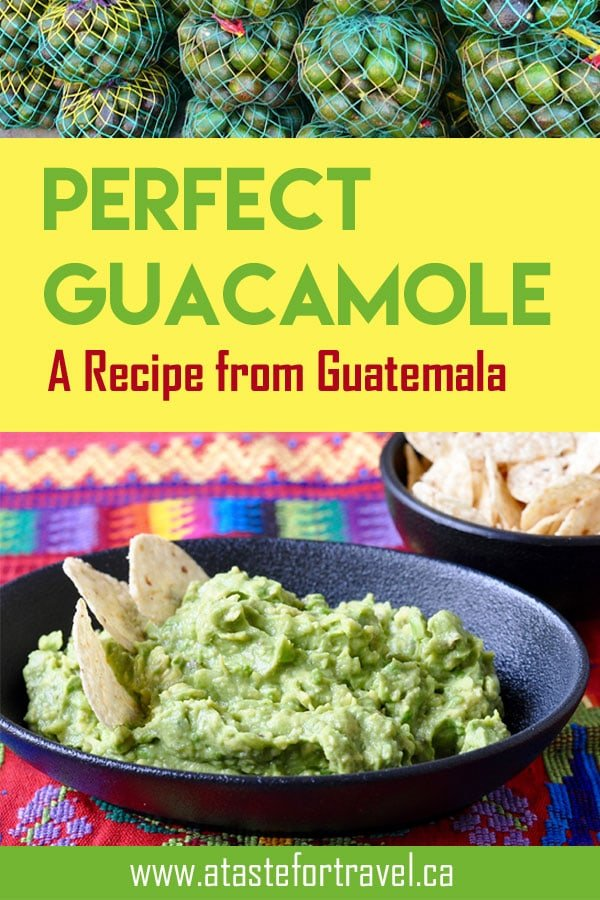 This quick and easy Guatemalan recipe for authentic Guatemalan guacamole is the perfect party appetizer #recipe #easy #appetizer