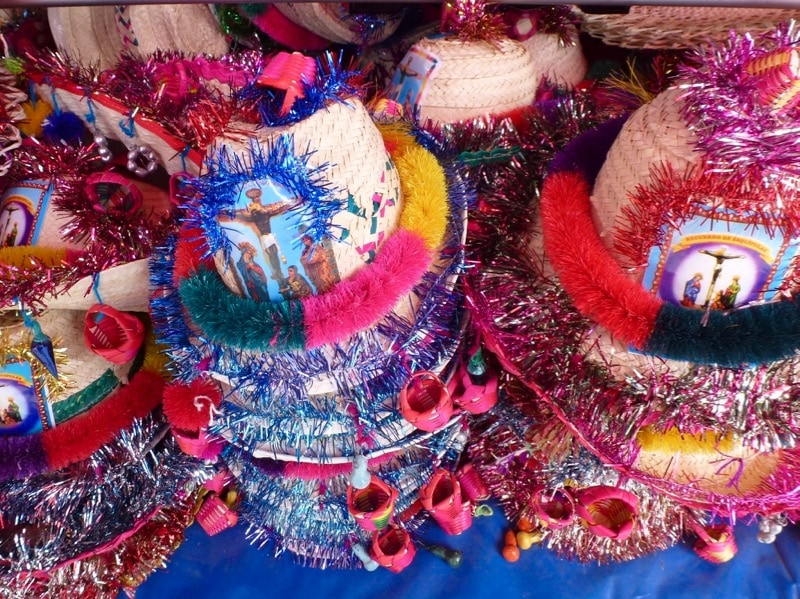 sombrero de esquipulas is a traditional hat worn by pilgrims to the Black Christ